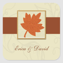 autumn envelope seal