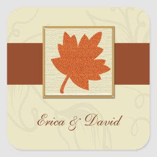 autumn envelope seal square sticker