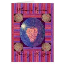 Autumn Equinox Blessings Card