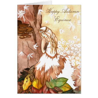 Autumn Equinox Dandelion Fairy Greeting Card