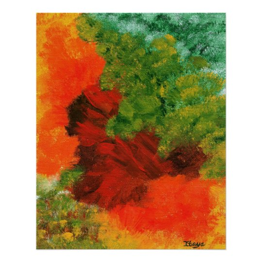 Autumn Equinox Large Abstract Art Print Painting