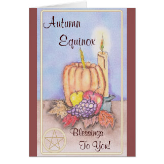 Autumn Equinox Mabon Blessings Pentacle Card