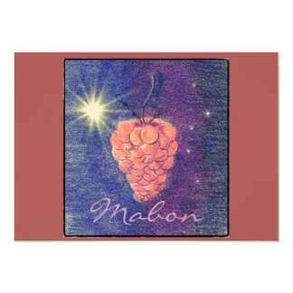"Autumn Equinox Mabon Change Background Color 5"" X 7"" Invitation Card"