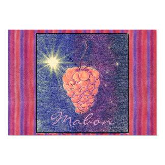 "Autumn Equinox Mabon Invitation (lg. stripe) 5"" X 7"" Invitation Card"