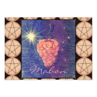 "Autumn Equinox Mabon Invitation (Pentacle) 5"" X 7"" Invitation Card"