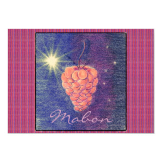 """Autumn Equinox Mabon Invitation (sml. stripe) 5"""" X 7"""" Invitation Card"""