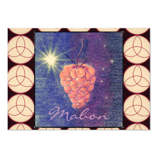 """Autumn Equinox Mabon Invitation (Triquetras) 5"""" X 7"""" Invitation Card"""