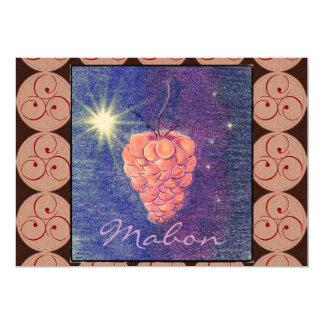 "Autumn Equinox Mabon Invitation (Triskeles) 5"" X 7"" Invitation Card"
