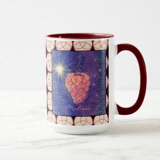 Autumn Equinox Mabon with Triquetra Background Mug