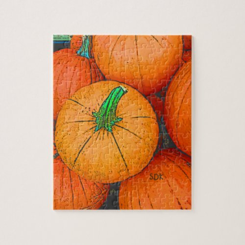 Autumn Pumpkin Harvest Jigsaw Puzzle