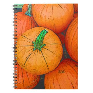 Autumn Equinox Pumpkin Harvest Festival Spiral Notebook