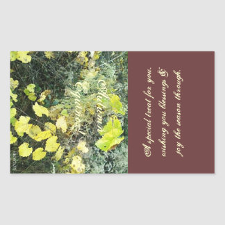 Autumn Equinox Wild Mabon Treat Bag Rectangular Sticker