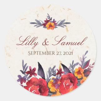 Autumn Essence wedding Classic Round Sticker