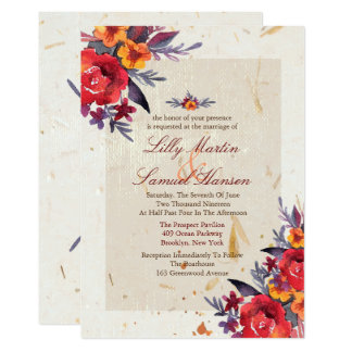 Autumn Essence Wedding Invitations