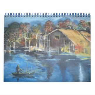 Autumn Evening Calendar