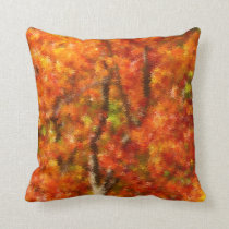 Autumn Fade ~ autumn leaves Design Throw Pillow