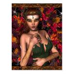Autumn Fae Fairy Fantasy Postcard