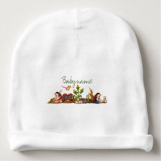 Autumn Faeries of Joy Personalized Baby Beanie
