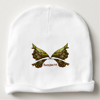 Autumn Faery Wings Personalized Baby Beanie