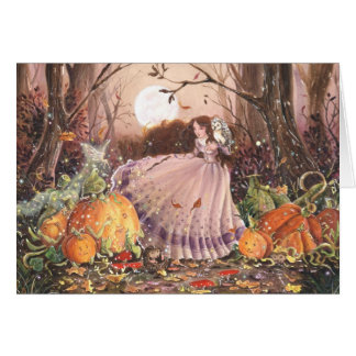 Autumn Faery Witch Card