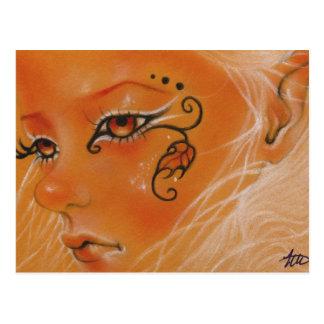 Autumn Fairy doll face Postcard