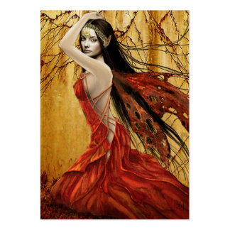 Autumn Fairy Gift Tag Large Business Card
