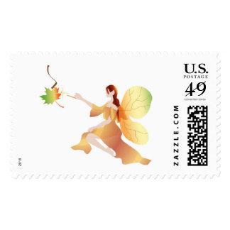 Autumn Fairy Postage Stamp