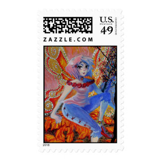Autumn Fairy Postage Stamp Postage Stamps