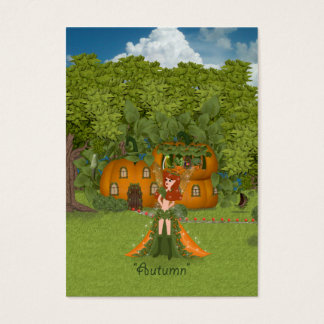 Autumn Fairy Pumpkin Cottage Business Card