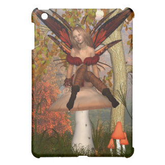 Autumn Fairy sitting on a toadstool with woodland iPad Mini Covers
