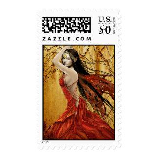 Autumn Fairy Stamp