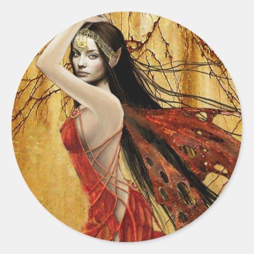Autumn Fairy Sticker