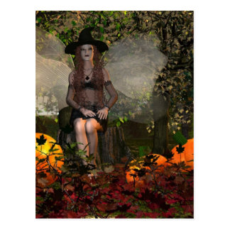 Autumn Fairy Witch Post Cards