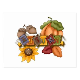 autumn fall bliss post card