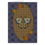 Autumn Fall Collection Butterfly Greeting Card