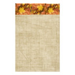 Autumn Fall Collection Golden Leaves Stationery