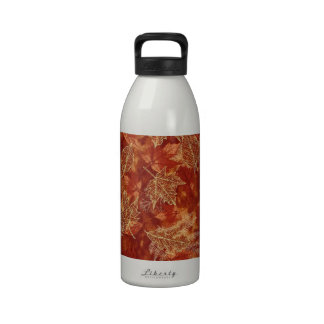 autumn fall color graphic design on all items water bottle