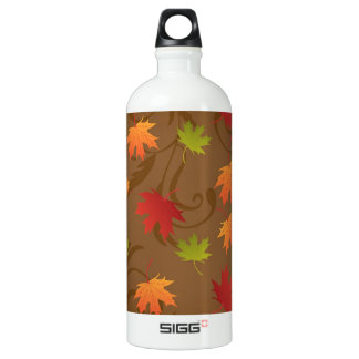 Autumn, Fall Color Leaves on Brown Background SIGG Traveler 1.0L Water Bottle