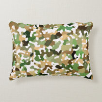 Autumn Fall Colors - Red Orange Yellow Green Brown Accent Pillow