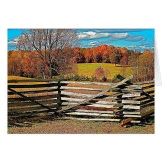 Autumn, Fall Farm Scenery Note Card
