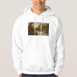 Autumn Fall Forest River Robert Duncanson Destiny Hoodie