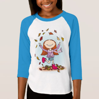 Autumn fall fun girl's tee