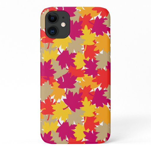 Autumn Fall Harvest Maple Leaves Rustic iPhone 11 Case