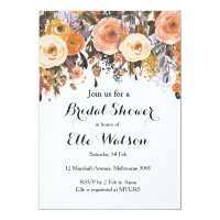 Autumn Fall in Love Bridal Shower Invitation