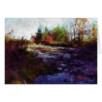 """Autumn"" Fall Landscape Art Stationery Note Card"