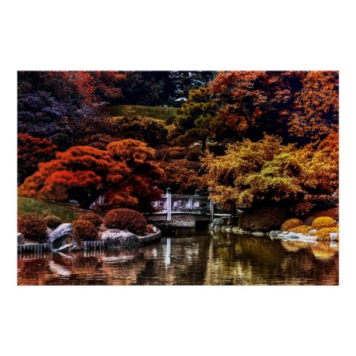 Autumn Fall Landscape Nature Colors Poster