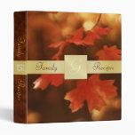 Autumn Fall Leaf Thanksgiving Recipe Binder
