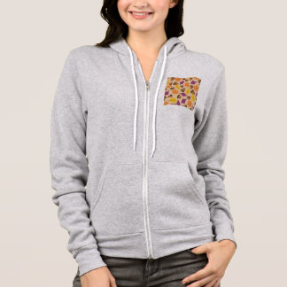 autumn fall leaves and acorns hoodie