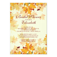 Autumn Fall Leaves Bridal Shower Invitation
