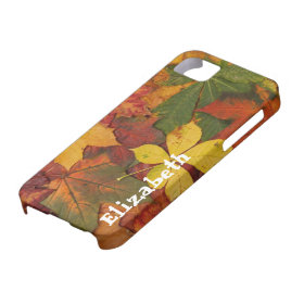 Autumn Fall Leaves Custom iPhone 5 Cell Phone Case iPhone 5 Cases